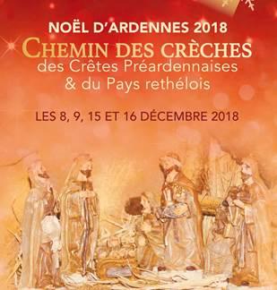 Noël d'Ardennes 2018, Chemin des Crèches à Clavy-Warby