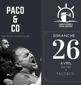 Croisière-repas avec Paco&co