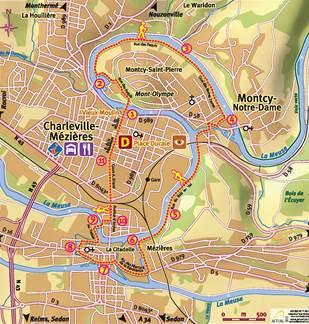 Balade à pied: Circuit urbain Charleville-Mézières