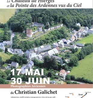 Exposition : Le Château de Hierges et la Pointe des Ardennes vus du ciel
