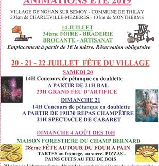 Défilés du 14 juillet de Thilay et Nohan