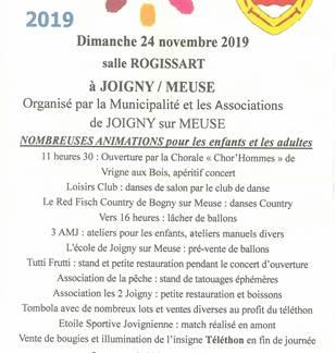 Téléthon de Joigny sur Meuse