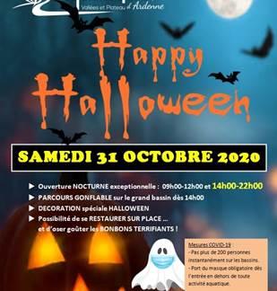 Soirée Halloween au centre aquatique Vallées et Plateau d'Ardenne