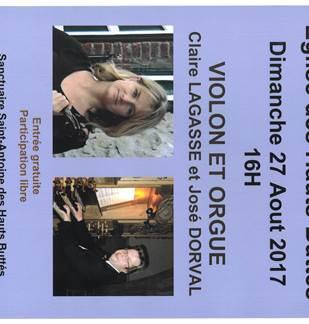 Concert à l'Eglise des Hauts-Buttés