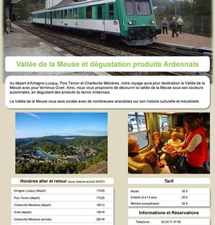 Découverte de la Vallée de la Meuse et dégustation de produits Ardennais en Train