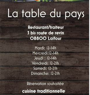 La table du pays