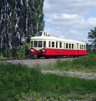 Amagne -Longueville en autorail