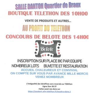 Téléthon 2019: boutique et concours de belote
