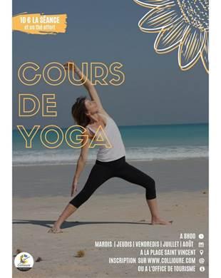 Yoga sur la plage à Collioure
