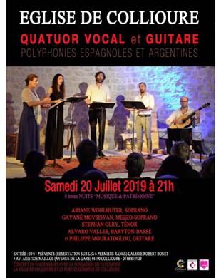 Concert quatuor et guitare - Eglise de Collioure