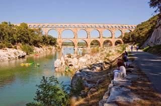 Nîmes, les gorges du Gardon et le Pont du Gard à vélo