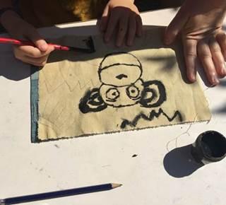 Atelier découverte du Bogolan à la Pepiterre