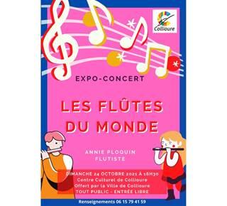 """Expo concert """"les flûtes du monde"""""""