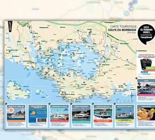 Carte Touristique Golfe du Morbihan + Iles