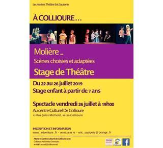 Stage de théâtre enfant - Collioure