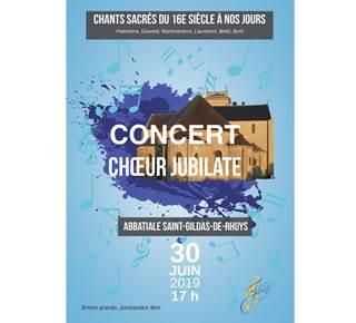 Concert du Chœur Jubilate de Vannes à l'Abbatiale de Saint-Gildas-de-Rhuys