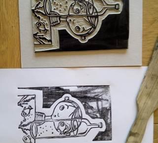 Atelier gravure à la Pepiterre