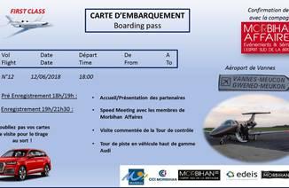 Mardi 12 Juin : Confirmez votre vol avec la compagnie Morbihan Affaires !!!