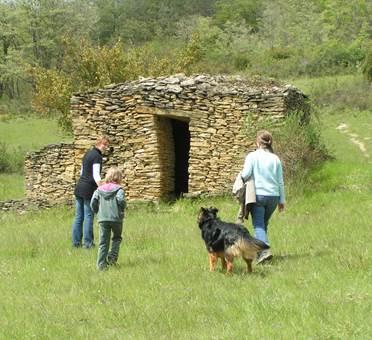 Camon, les cabanes en pierres sèches