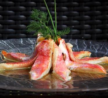 Filets de rougets marinés au gingembre - Hôtel Eychenne à Saint-Girons