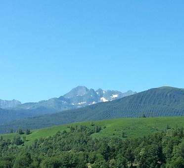 Point de vue sur le Mont Valier
