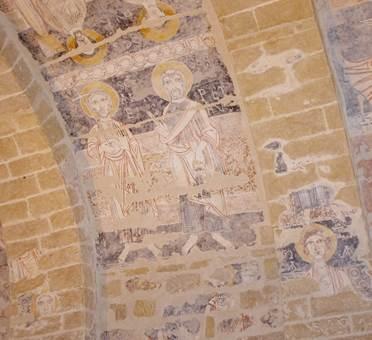 Fresques de l'église de Vals