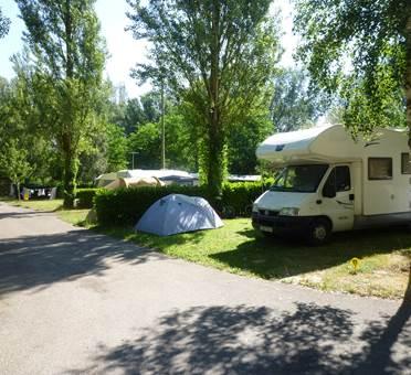 vue emplacement camping la bastide