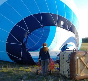 ballon bleu horizon gonflage