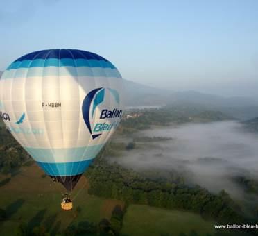 ballon bleu Horizon vue du ciel