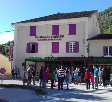 façade du restaurant la maison lacube
