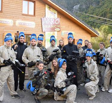 paintball dans le parc Akrobranch d'Orlu