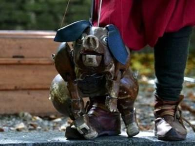 """Spectacle de Marionnettes """"Le jugement dernier du cochon"""" par la compagnie du Polisson"""