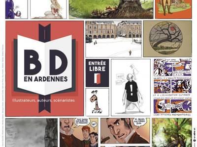 """Exposition """"BD en Ardennes: illustrateurs, auteurs, scénaristes"""""""