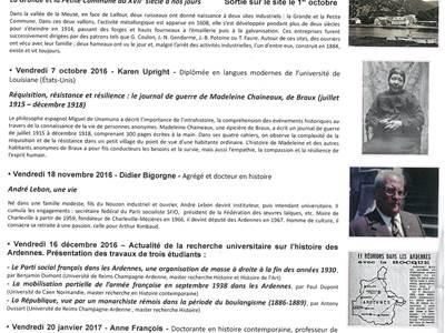 """Conférence """"L'agriculture ardennaise dans la tourmente (1938-1946)"""