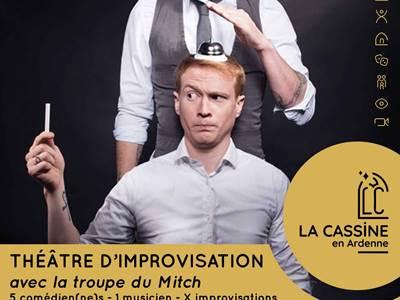 Théâtre d'improvisation avec la troupe du Mitch