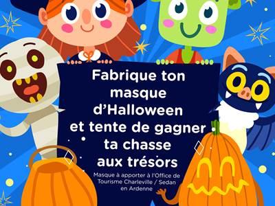 """Jeu Concours d'Halloween """"Fabrique ton masque d'Halloween"""""""