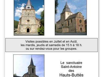 Ouvertures estivales des églises