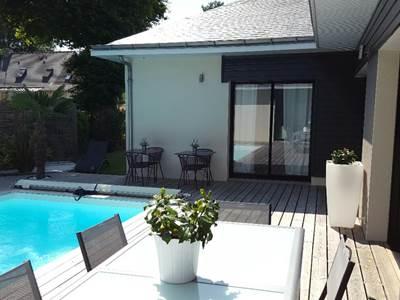 Terrasse de la chambre Golf vue piscine