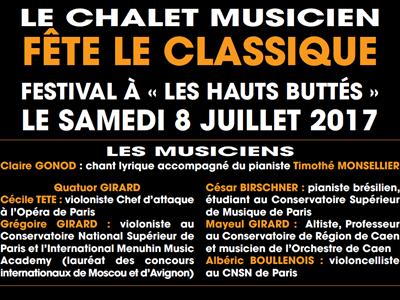 Concert au chalet musicien fête le classique