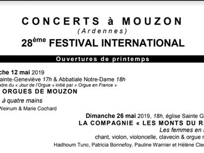 Concert des 3 orgues Mouzon