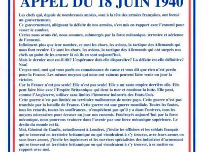 Cérémonie commémorative du 18 juin