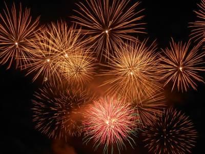 Festivités et feu d'artifice