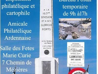Commémorations de Vrigne-Meuse : Exposition Philatélique et Cartophile