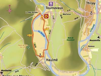 Balade à pied: La plaine de Tournavaux