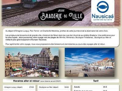 Braderie de Lille en Autorail Picasso