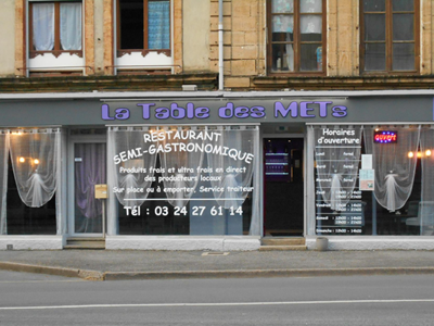 "Restaurant ""La table des mets"""
