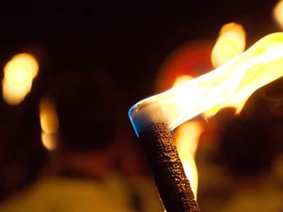 Visite de Mézières aux flambeaux