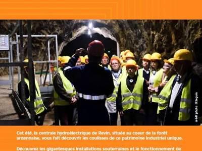 Visites de la centrale hydraulique de Revin