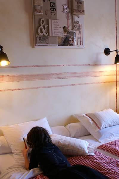 chambre lin et ficelle, motif alsacien