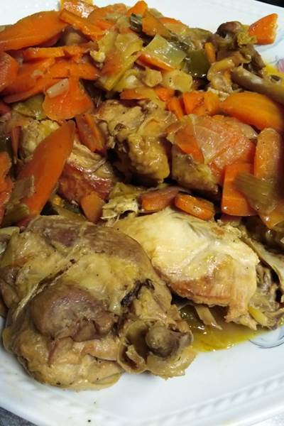 Poularde de Saintonge(sauce pineau et crème)